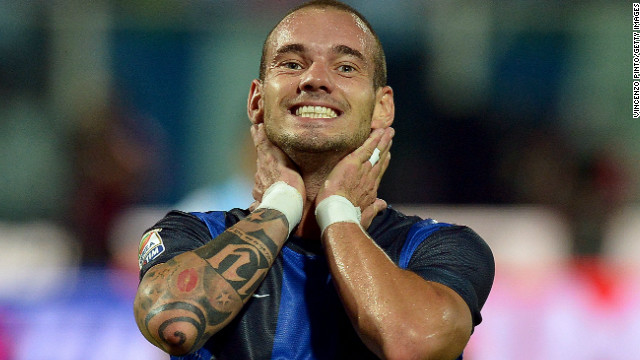 Dutch midfielder Wesley Sneijder last played a competitive game for Inter Milan back in September last year