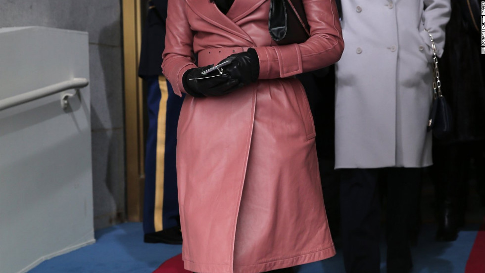 Eva Longoria arrives for the presidential inauguration.
