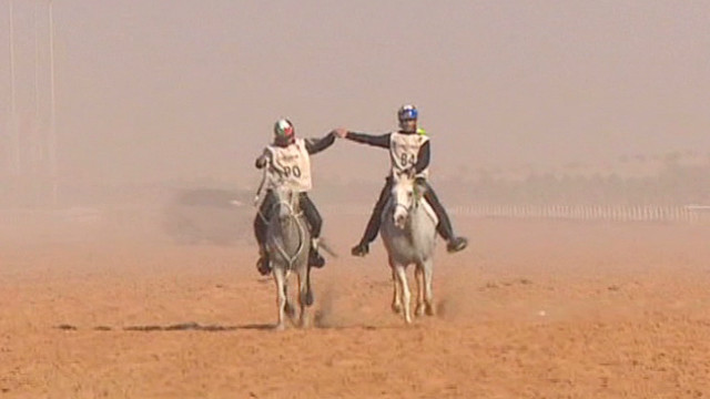 Endurance racing in the Dubai desert