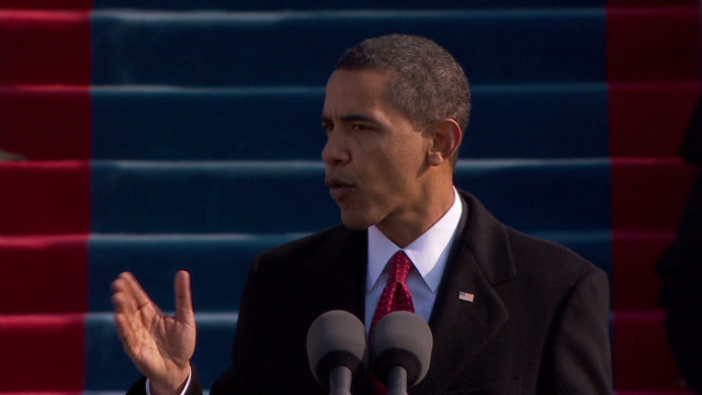 Obama's inaugural address: Then and now