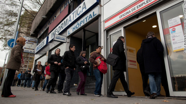 Spain's unemployment rate hits 26%