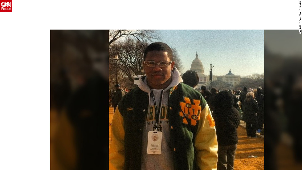 """This is history in the making, and I just could not pass up this once-in-a-lifetime opportunity. The crowd felt surreal,"" said Cameran Tucker (@camtucker25), a junior at Notre Dame High School in West Haven Connecticut."