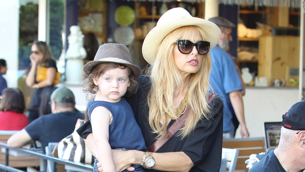 Rachel Zoe and her son head out in Beverly Hills.