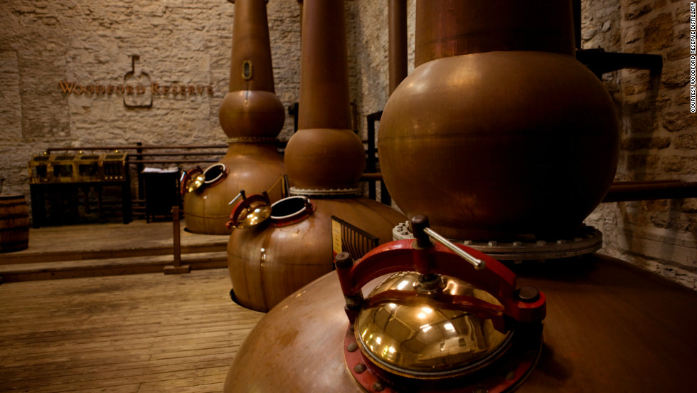 The distillery's award-winning bourbon is made in small batches.