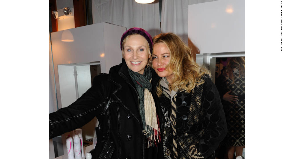 Jane Lynch and Jennifer Coolidge at the Dove Color Care Salon.