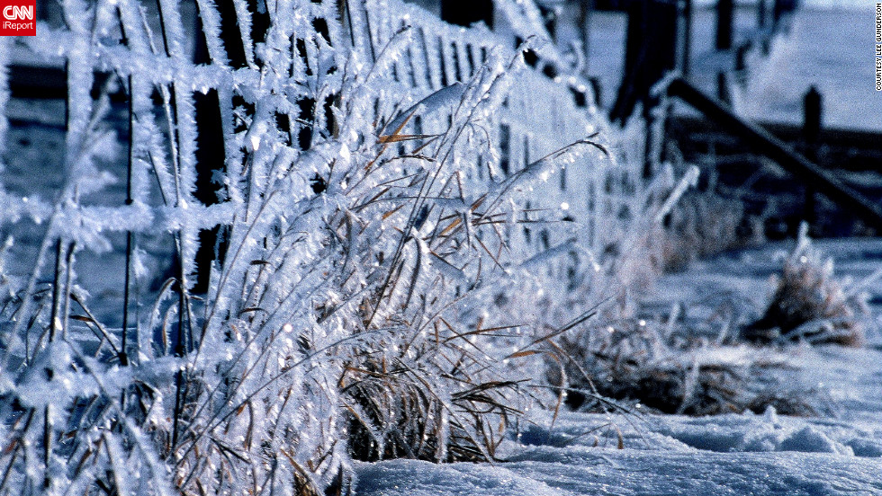 """""""Beauty always comes with great storms, no matter where you are,"""" says <a href=""""http://ireport.cnn.com/docs/DOC-880759"""">Lee Gunderson</a>. """"When the sun comes on frozen rain or hoar frost it is always beautiful."""""""