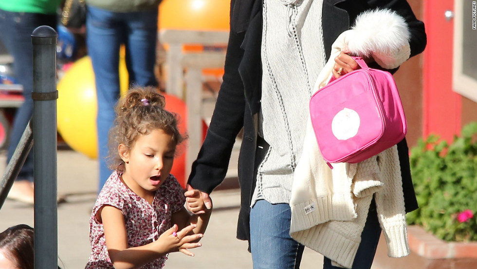 Halle Berry picks her daughter up from school.