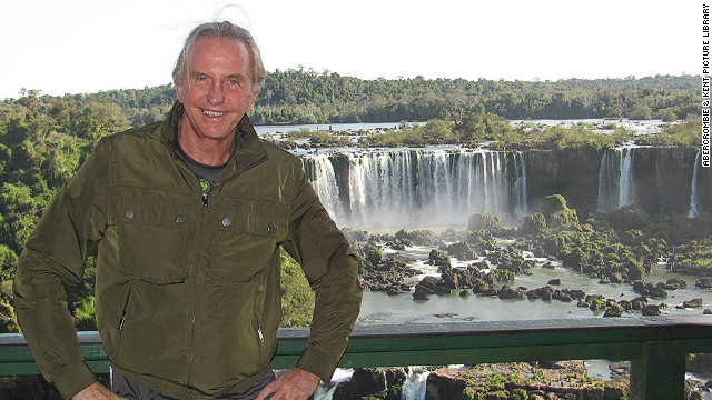 Geoffrey Kent, co-founder of Abercrombie & Kent at Iguazu Falls in Argentina. The company turns 50 this year.