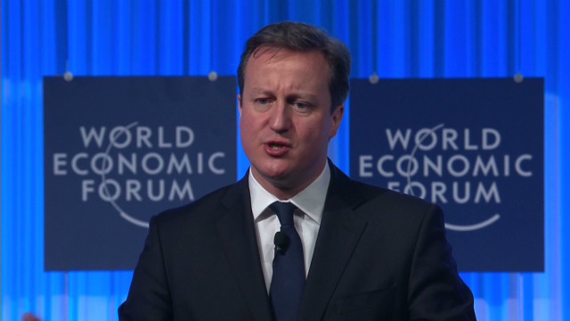 British PM defends referendum in Davos