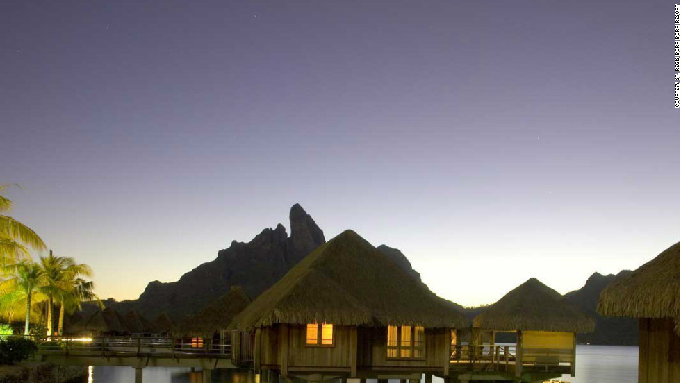 Bora-Bora was voted the world's most romantic island by Travel + Leisure readers.