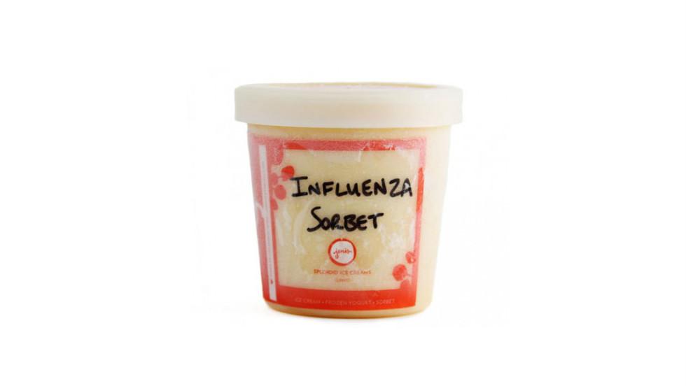 Jeni's Splendid Ice Cream claims its Influenza sorbet comes from a family recipe.