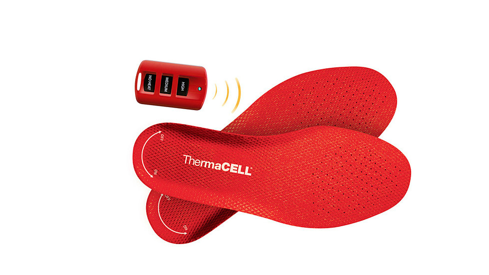 ThermaCELL has created remote-controlled heated insoles for your shoes.