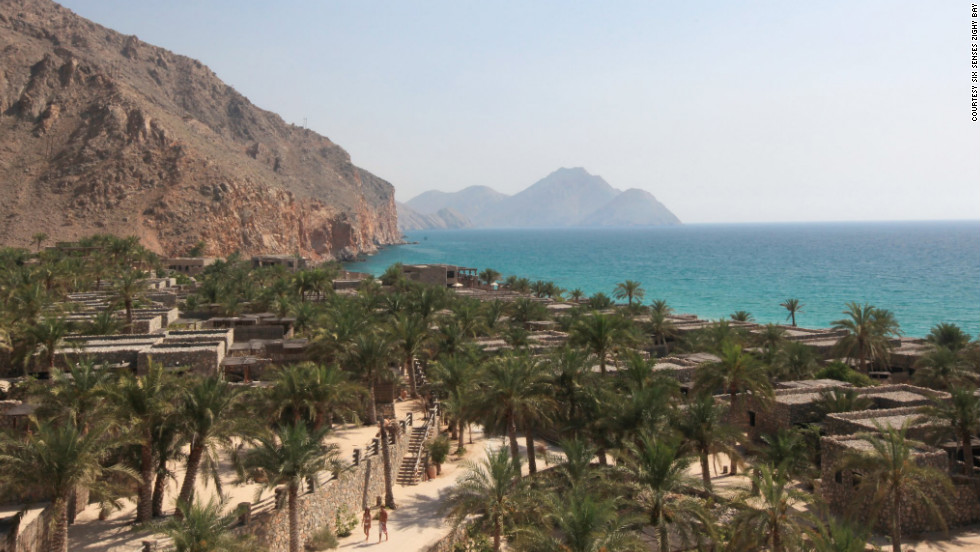 Paraglide in and saunter out of the Six Senses Zighy Bay retreat in Oman.