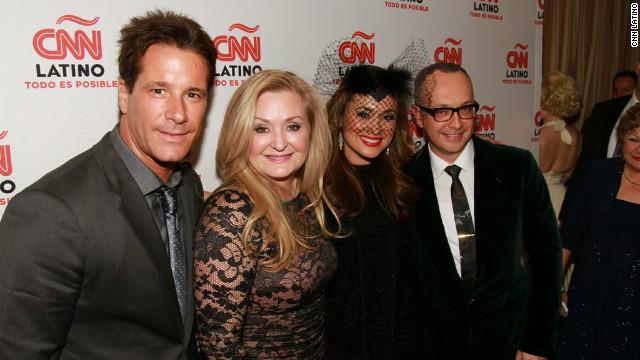 From left, Fernando Carrillo, Cynthia Hudson, Elizabeth Espinosa, and Juan Carlos Arciniega.