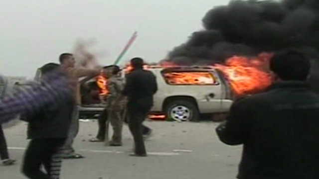 Iraqi soldiers fire on protesters