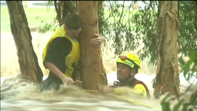 Teen rescued from Australian flood