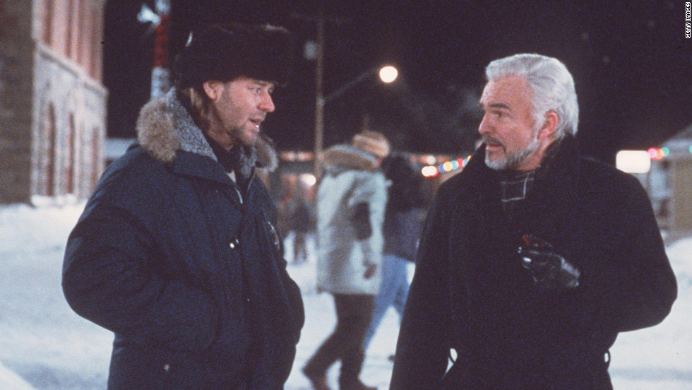"Russell Crowe and Reynolds star in ""Mystery, Alaska"" in 1999."