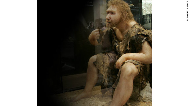 Statue displays what scientists believe a Neanderthal man may have looked like