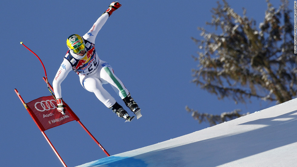 Italian skier Dominik Paris won the prestigious men's downhill at Kitzbuhel in Austria for his second World Cup victory after a dead-heat for first at Bormio in late 2012.
