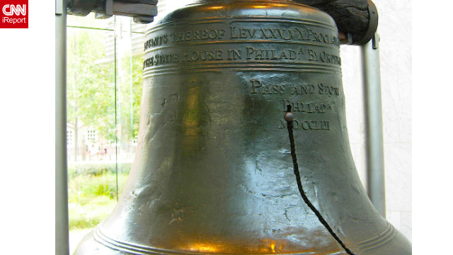 The cracked Liberty Bell, in Philadelphia, is seen as a symbol of America's quest for independence.