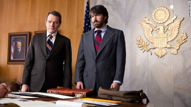 "Bryan Cranston, left, and Ben Affleck appear in a scene from the film ""Argo."""