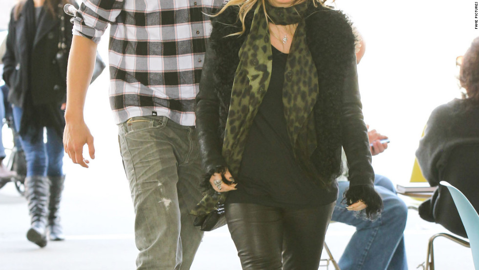 Fergie and Josh Duhamel spend the day together.