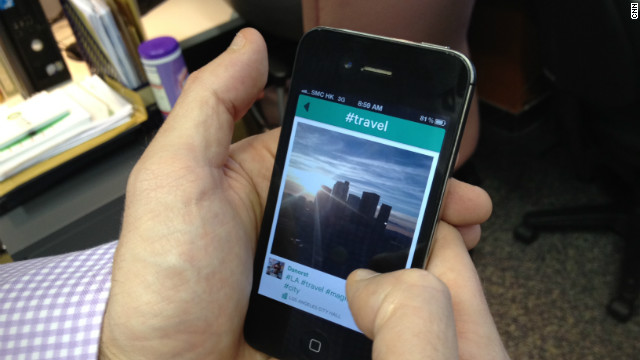 Vine's mobile application allows users to edit and share six-second videos.