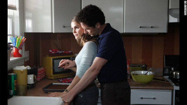 "Keri Russell and Matthew Rhys star as married Russian spies with a family in the FX series ""The Americans."""