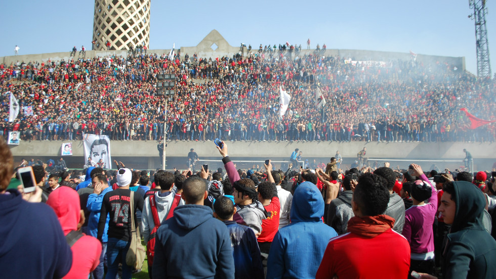 The jubilant fans were let into the club, where they held a rally on the training pitch.