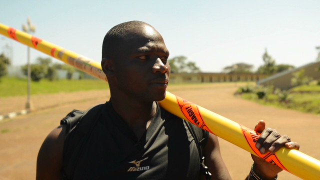 Kenya javelin thrower learns via YouTube