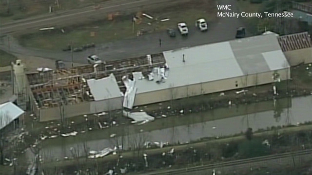 Heavy storm damage across Southeast