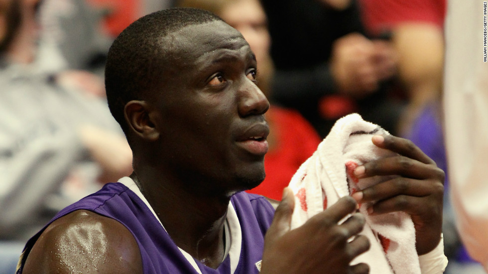 Aziz N'Diaye is a powerful center, known for his shot-blocking and rebounding skills.