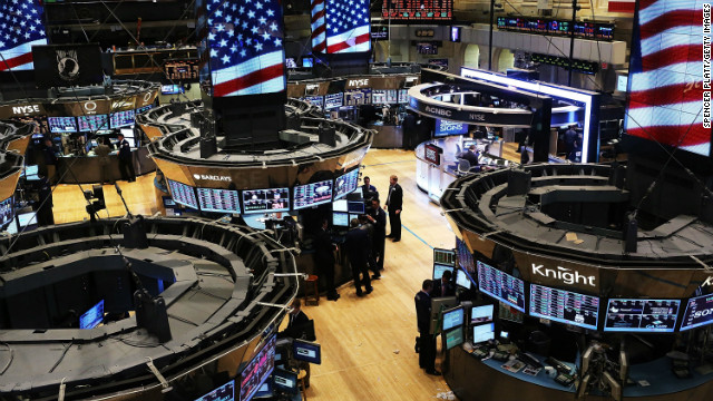 The New York Stock Exchange is pictured after the Fed announced they will keep interest rates near zero on Thursday.
