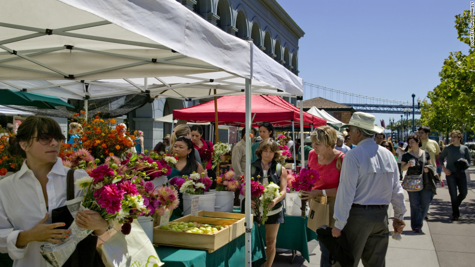 "Some of San Francisco's best chefs can be found at the outdoor <a href=""http://www.ferrybuildingmarketplace.com/farmers_market.php"" target=""_blank"">Ferry Plaza Farmers Market,</a> which is open on Tuesdays, Thursdays and Saturdays."