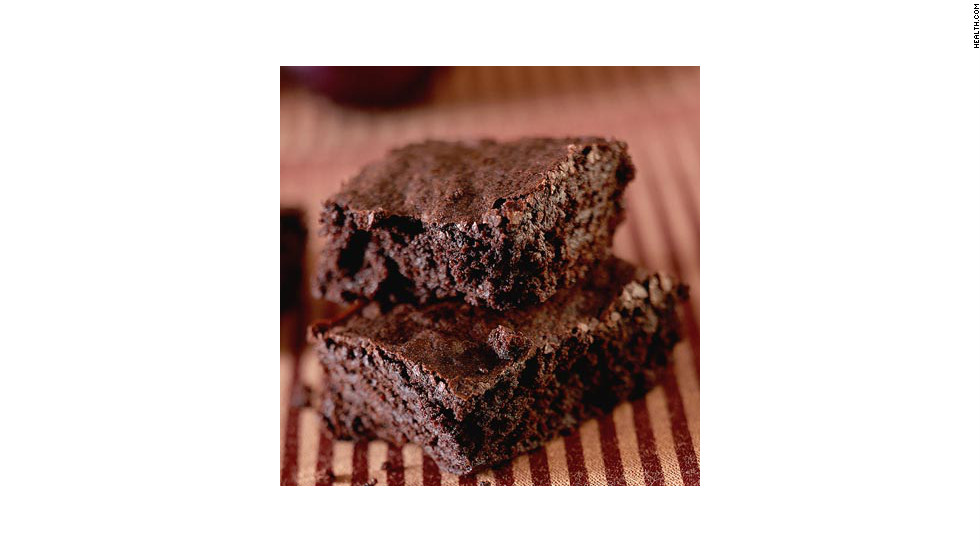 "Unsweetened cocoa keeps the fat content low on these 132-calorie brownies. <strong>Try this recipe:</strong> <a href=""http://www.myrecipes.com/recipe/fudgy-chocolate-brownies-10000000222750/"" target=""_blank"">Fudgy chocolate brownies</a>"