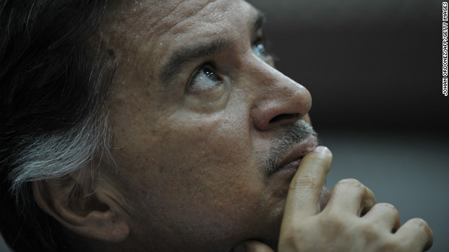 Former Guatemalan President (2000-2004) Alfonso Portillo during a hearing in court in Guatemala City, May 9, 2011.