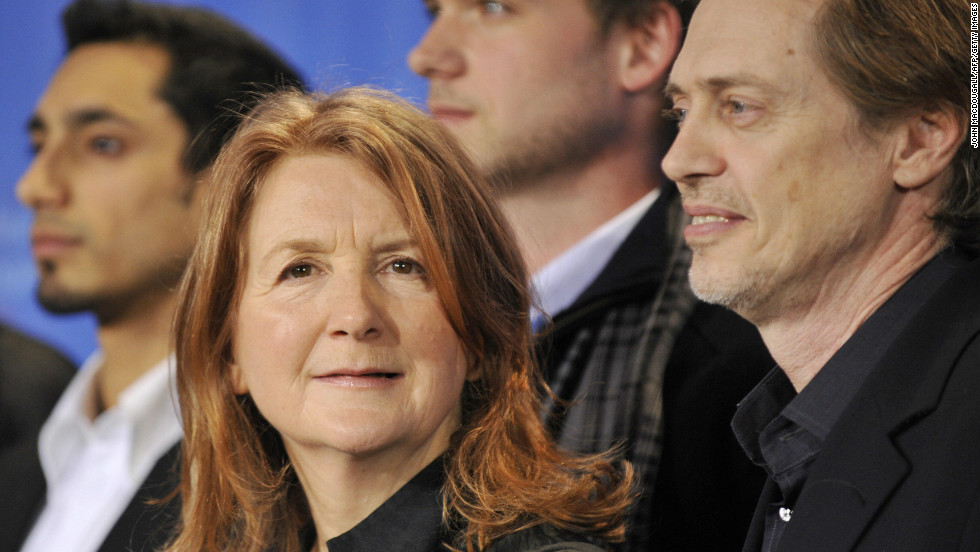 """Award-winning director <a href=""""http://sallypotter.com/"""" target=""""_blank"""">Sally Potter</a> with actors Steve Buscemi and Patrick Adams at the screening of her film """"<a href=""""http://www.imdb.com/title/tt1234550/"""" target=""""_blank"""">Rage</a>"""" at the <a href=""""http://www.berlinale.de/en/HomePage.html"""" target=""""_blank"""">Berlinale Film Festival</a> 2009. The film also starred Lily Cole, Judi Dench, Jude Law and Eddie Izzard."""