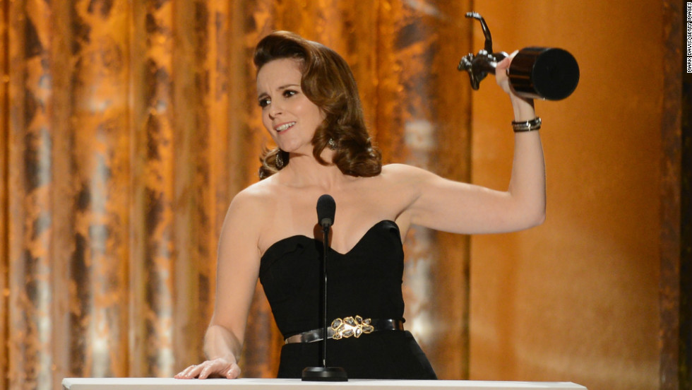"<a href=""http://www.imdb.com/name/nm0275486/"" target=""_blank"">Tina Fey</a> is an American actress, writer and director best known for her work on ""<a href=""http://www.nbc.com/saturday-night-live/"" target=""_blank"">Saturday Night Live</a>"", ""<a href=""http://www.nbc.com/30-rock/"" target=""_blank"">30 Rock</a>"" and her film ""<a href=""http://www.imdb.com/title/tt0377092/"" target=""_blank"">Mean Girls</a>"". She has won seven <a href=""http://www.emmys.com/"" target=""_blank"">Emmy Awards </a>and two Golden Globes and was the first woman to host the Golden Globes in 2013."