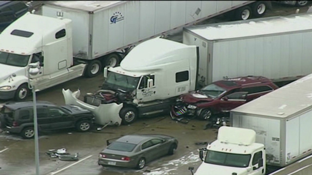 Police: Crashes covered mile of highway