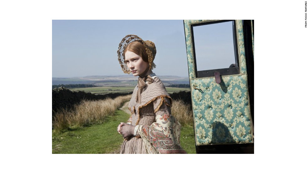 "Mia Wasikowska as Jane Eyre in the 2011 film adaptation of Charlotte Bronte's novel ""Jane Eyre."""