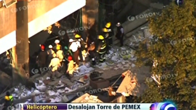 Office explosion rocks Mexico City