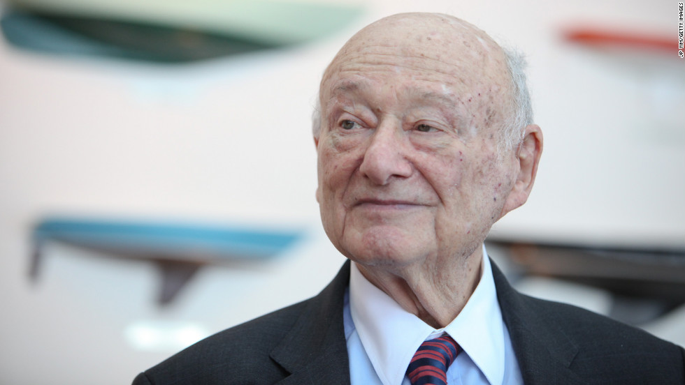 Ed Koch speaks at the renaming of the Queensboro Bridge in his honor in May 2011. The brash former New York mayor died Friday, February 1, of congestive heart failure at 88, his spokesman said.