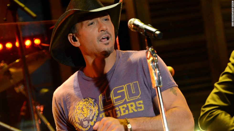 "Tim McGraw performs on ""Good Morning America"" in New Orleans, Louisiana."