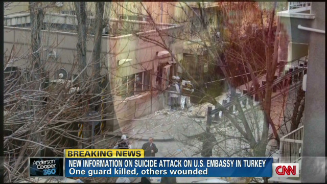 Bomber strikes U.S. embassy in Turkey