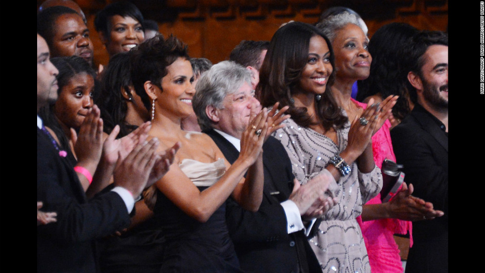 Halle Berry was among the A-listers who gathered to celebrate the accomplishments of people of color in film, television and literature at the 44th NAACP Image Awards at the Shrine Auditorium in Los Angeles on Friday, February 1. Click through to see who took home the night's top honors and the stars who came out to support them.