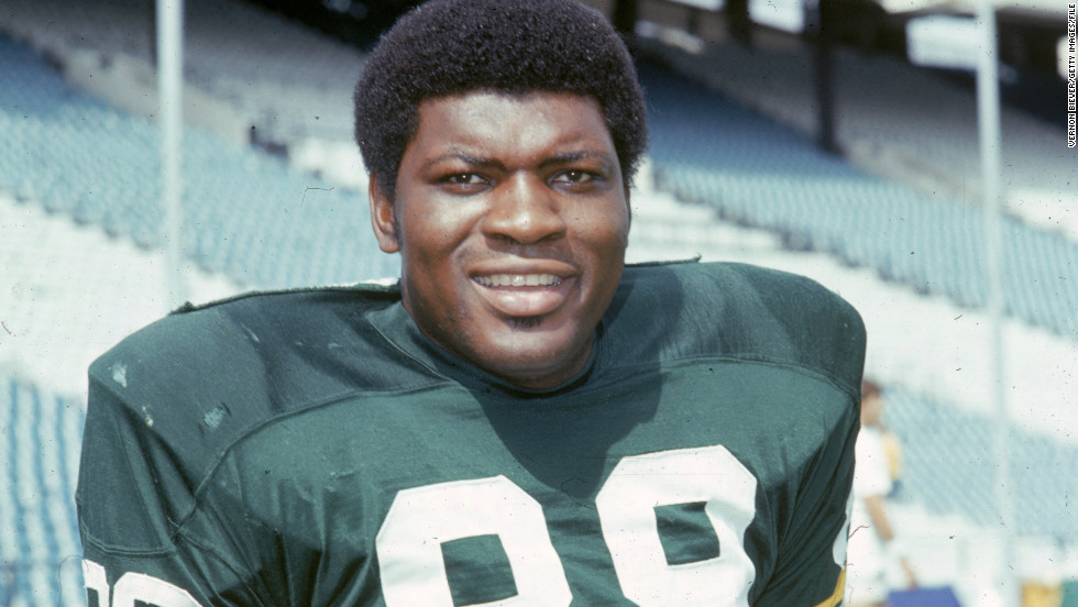 Defensive end David Robinson of the Green Bay Packers poses for the team's headshot during training camp in 1970. Robinson is a Hall of Fame inductee.