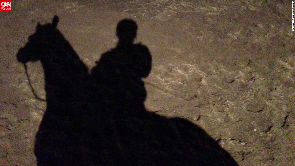 "<a href=""http://ireport.cnn.com/docs/DOC-919625"" target=""_blank"">iReporter Jennifer Hainin</a> took this shadow photo of her on her horse. ""It would be great for spring to come early, as long as that doesn't mean that summer comes sooner,"" she said."