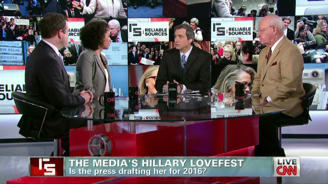 Media's Hillary Clinton lovefest