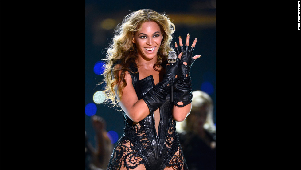 "Beyonce performed one of her solo hits, ""Single Ladies (Put a Ring On It)."""