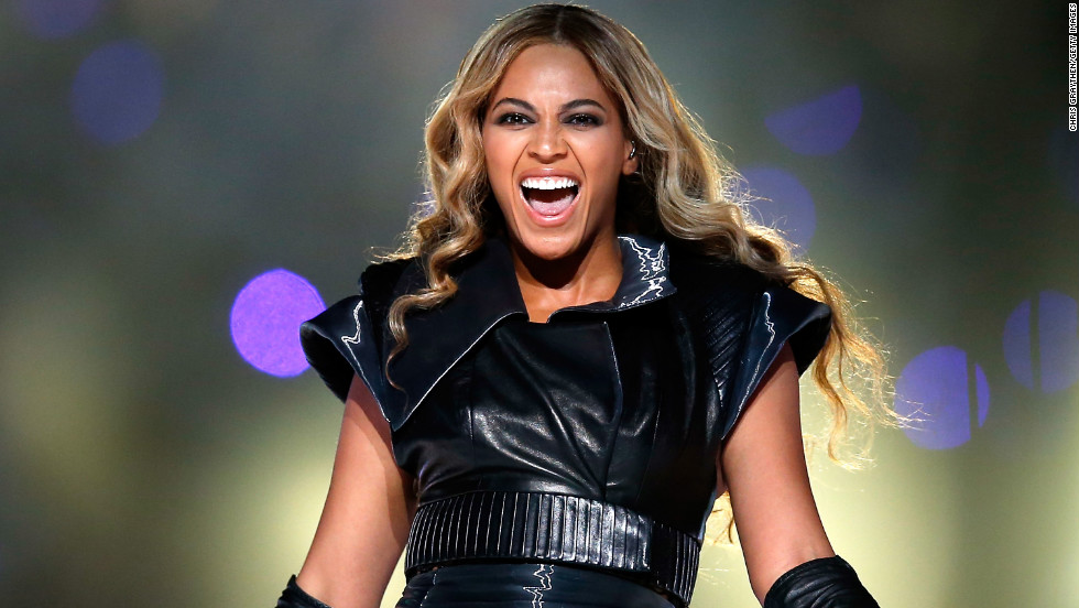 Pop singer Beyonce performs during the Pepsi Super Bowl XLVII Halftime Show.